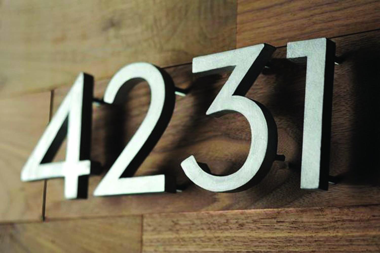 Цифры для номера дома своими руками